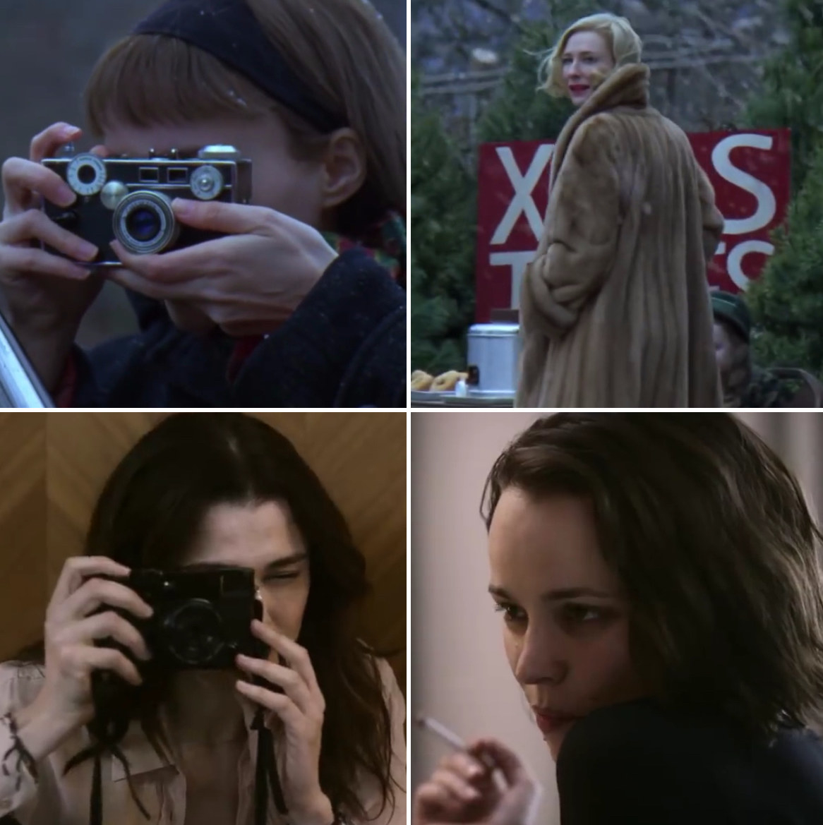 Therese taking a picture of Carol; Ronit doing the same to Esti