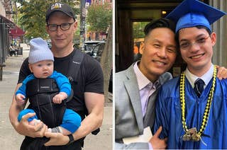BD wong and anderson cooper and their sons