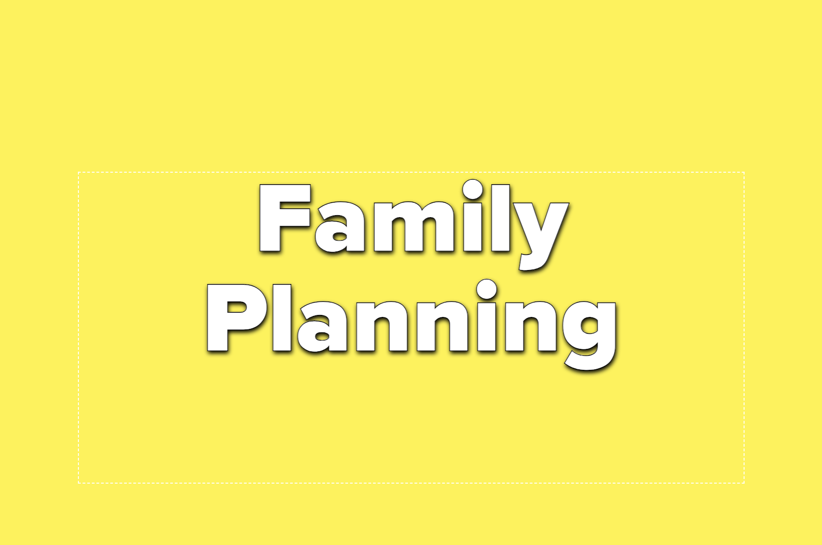 Text reads family planning