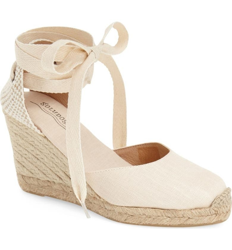 The sandal in Blush Linen