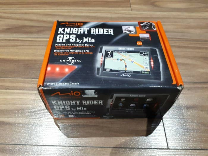The box of a Knight Rider GPS box