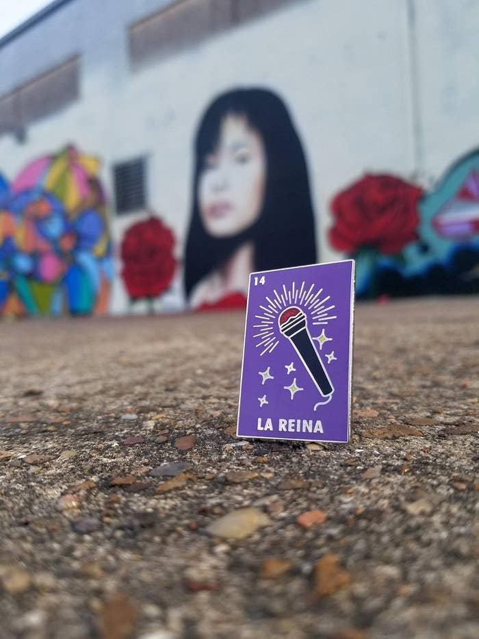 "The Selena ""La Reina""  enamel pin"