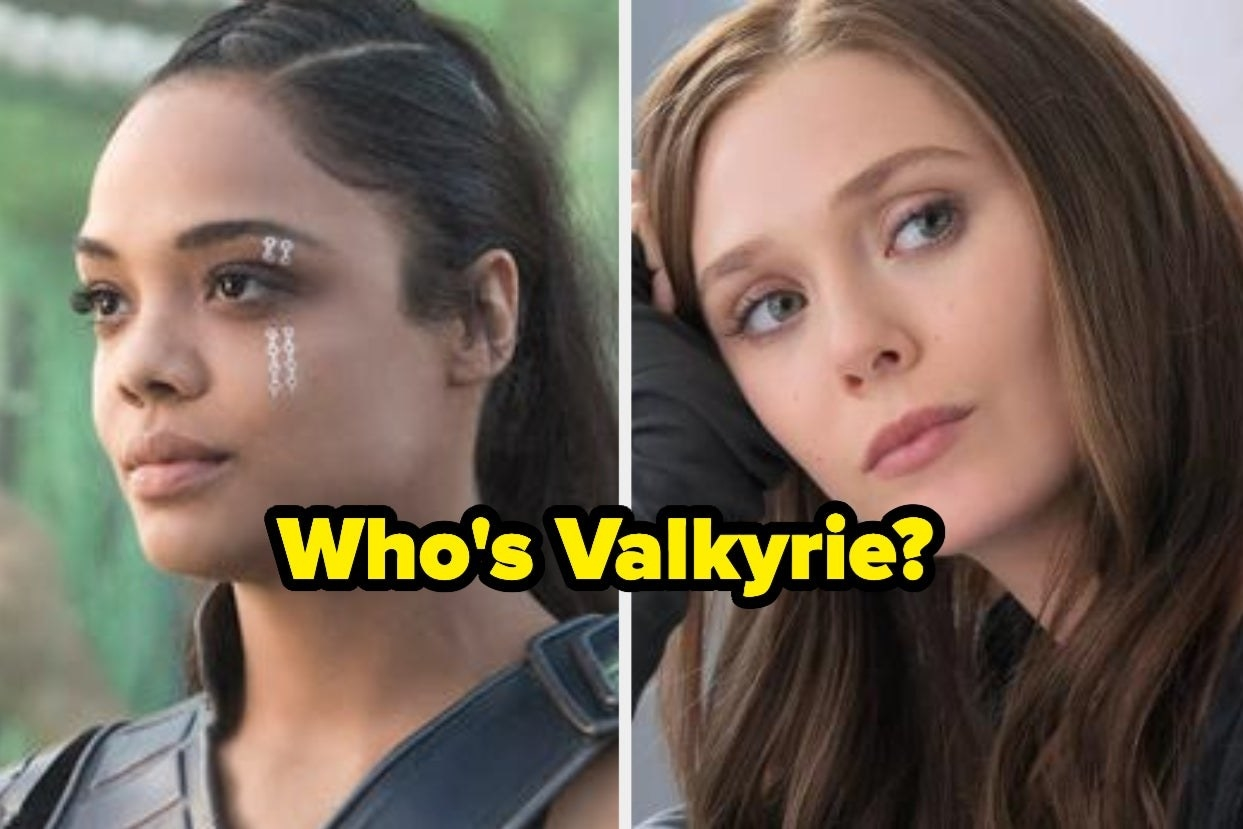 """Valkyrie and Wanda with the words """"Who's Valkyrie?"""""""