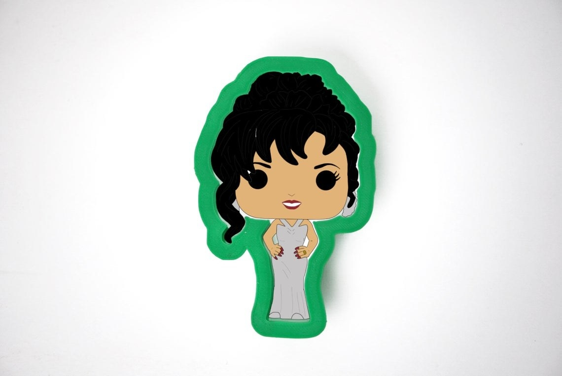 The Selena shaped cookie cutter