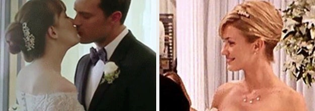 Wedding scenes from 50 Shades Freed and My Best Friend's Wedding