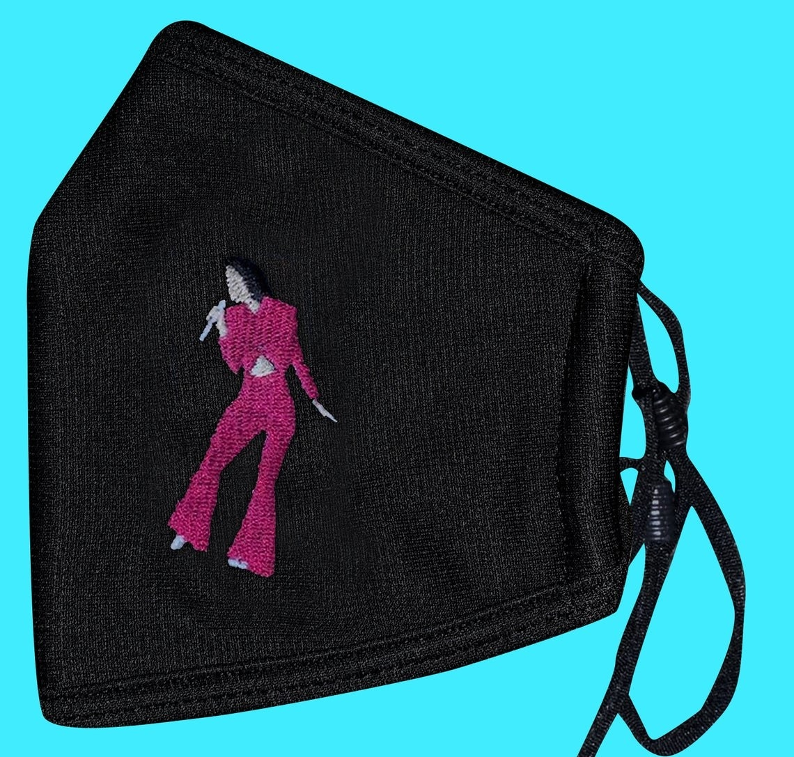 The Selena Quintanilla embroidered facemask
