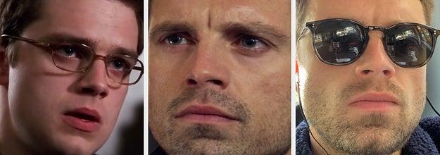 Sebastian Stan then vs now