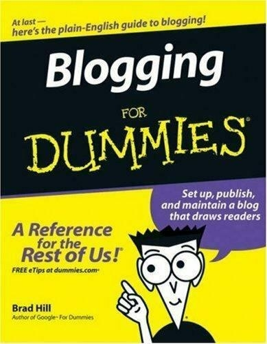 Cover of the Blogging for Dummies book