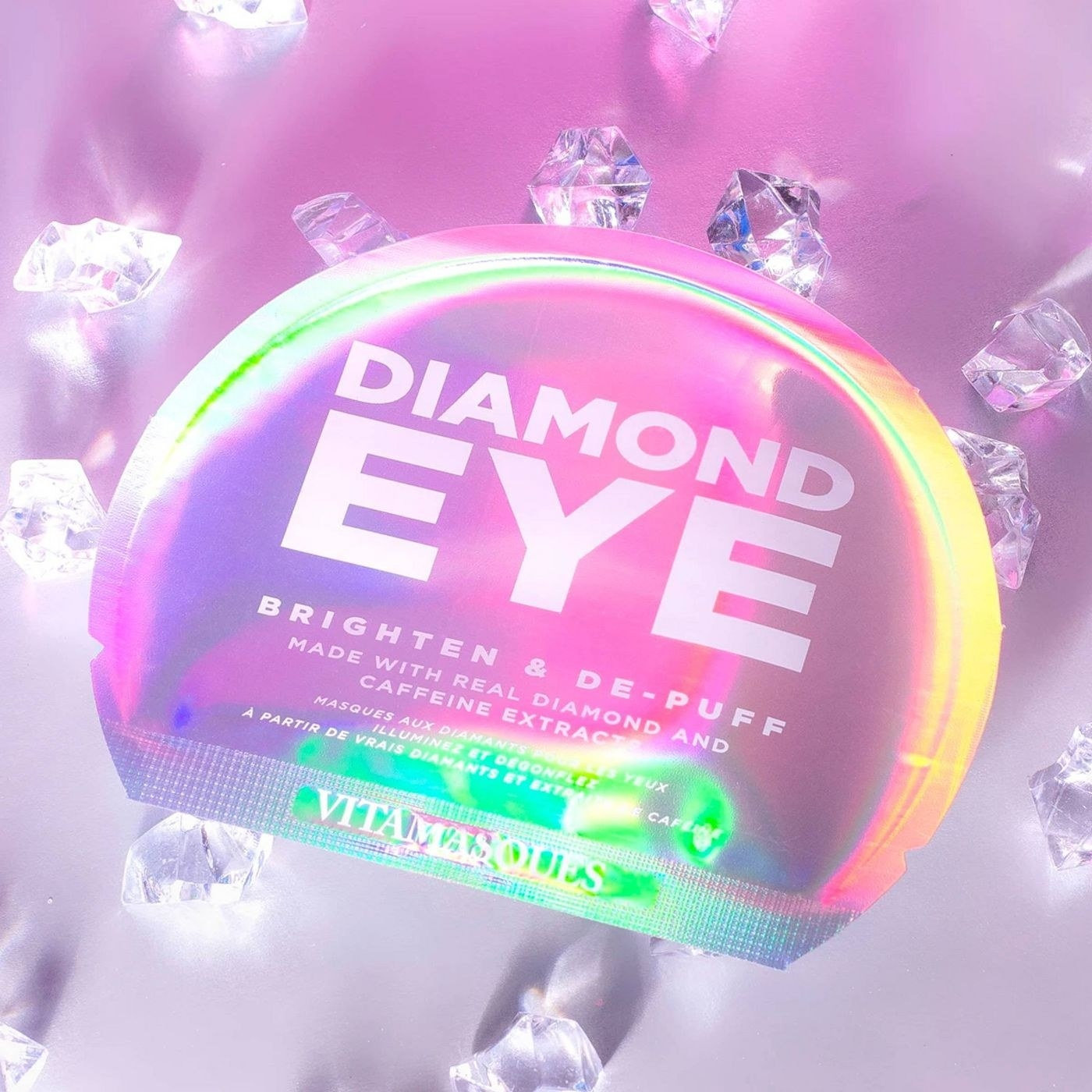 A holographic pack of under eye masks
