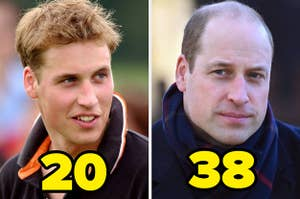 prince william at 20 and 38