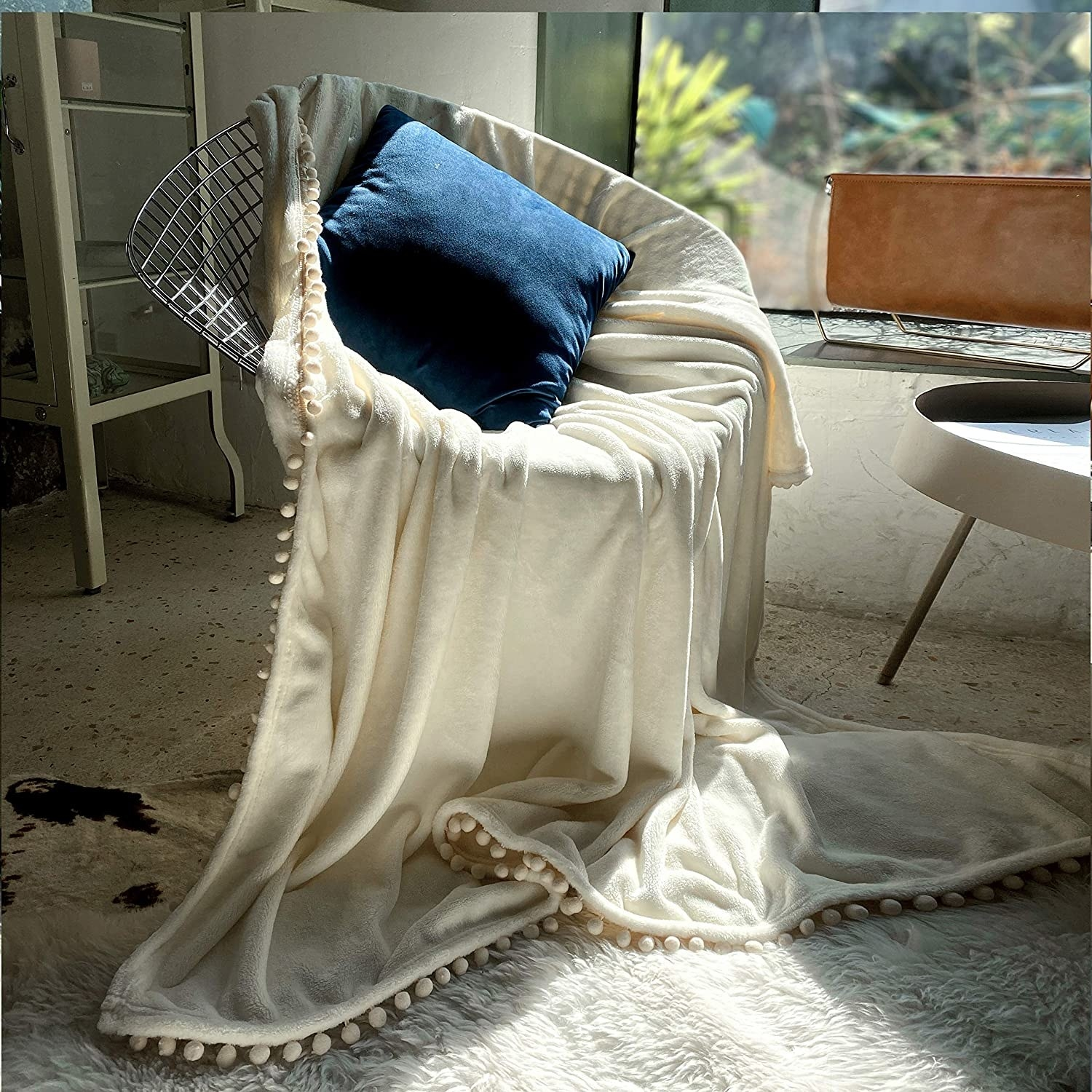 The blanket on a chair