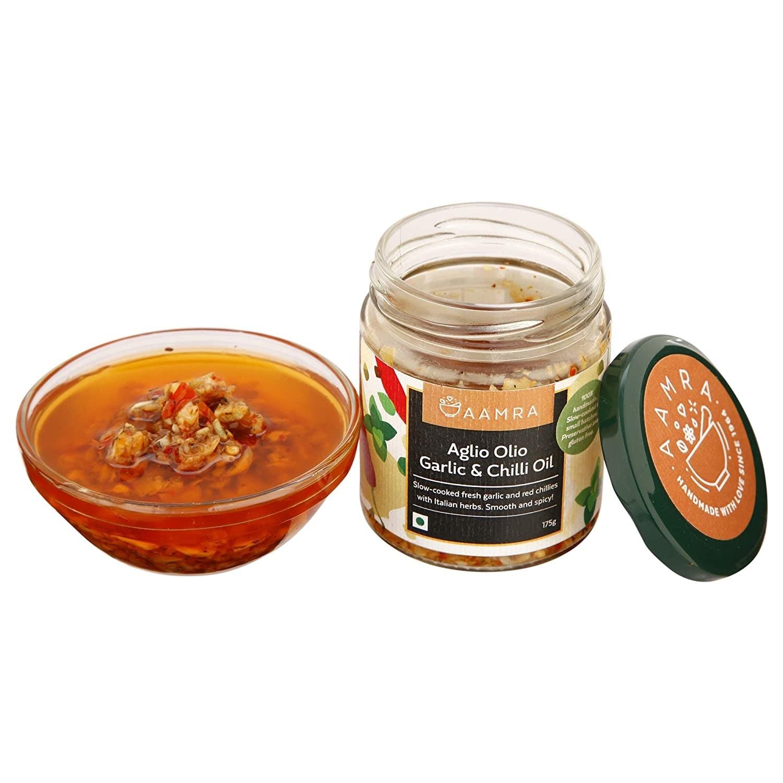 Bottle of the aglio olio garlic and chilli oil