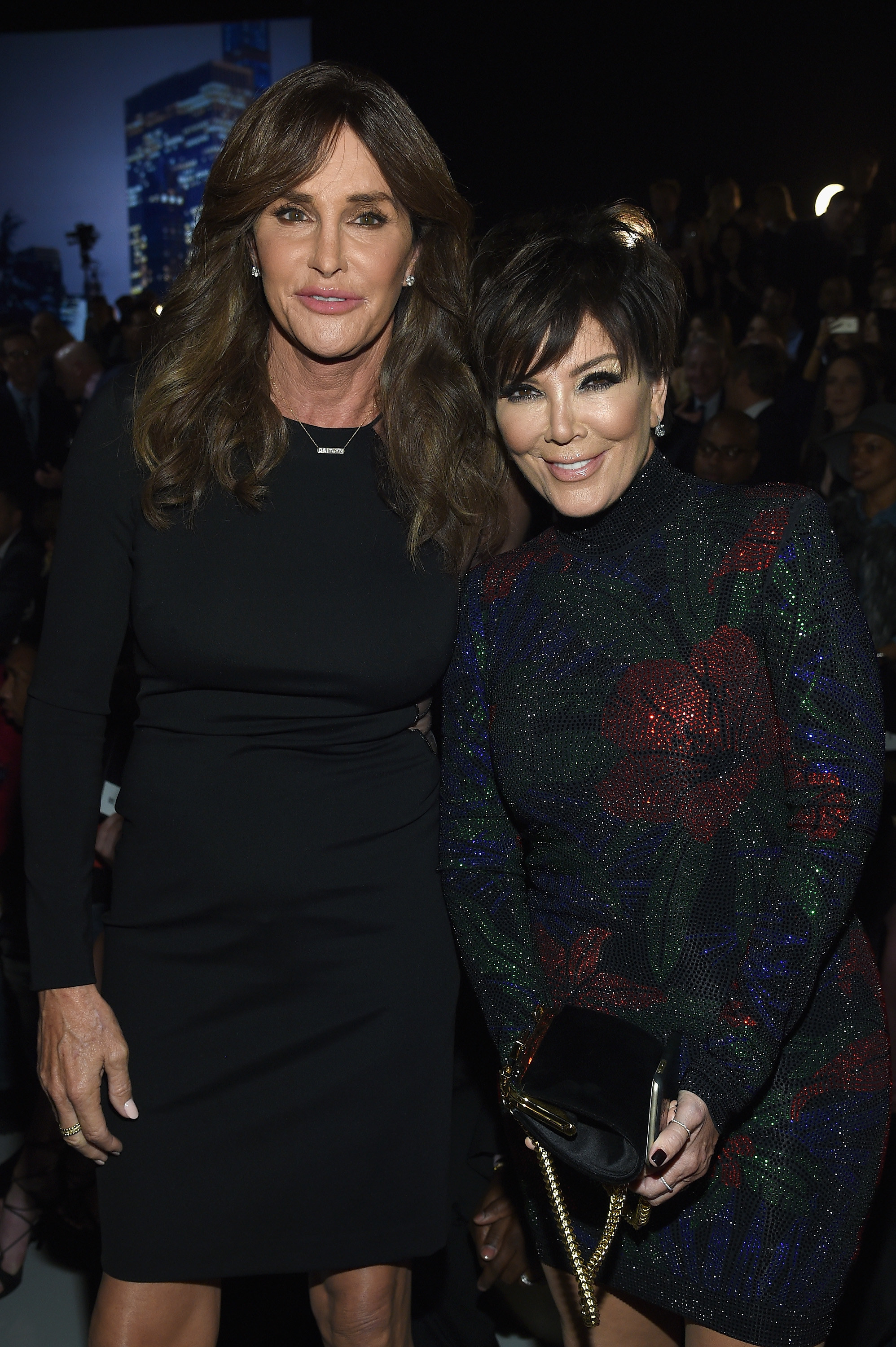 Caitlyn and Kris Jenner at the Victoria's Secret Fashion Show in 2015