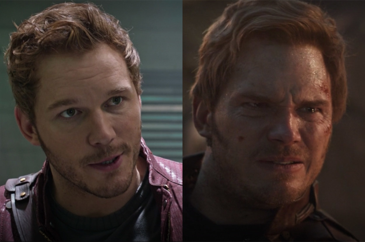 After spending a few years guarding the galaxy, Star Lord's hair was longer, and his beard was scruffier