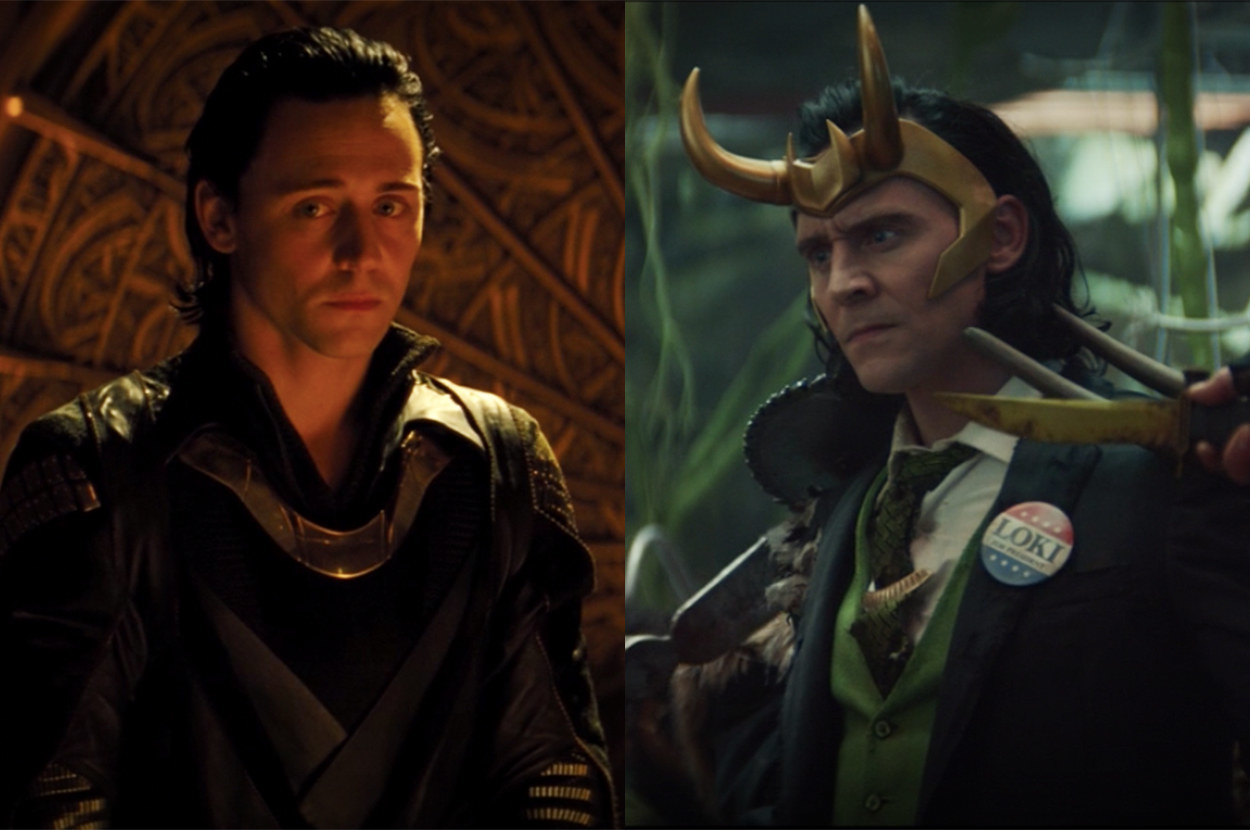 Loki was nervous and afraid in the first film but confident and chaotic in his new show