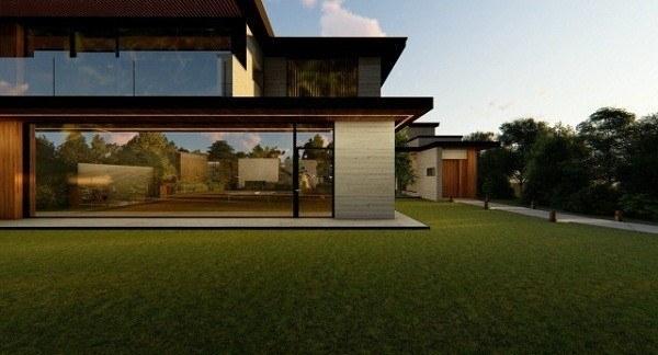 very modern house