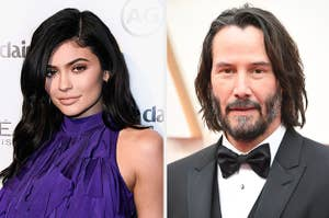 Kylie Jenner and Keanu Reeves