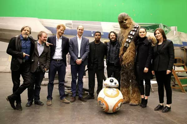 Prince William And Prince Harry With Stormtroopers