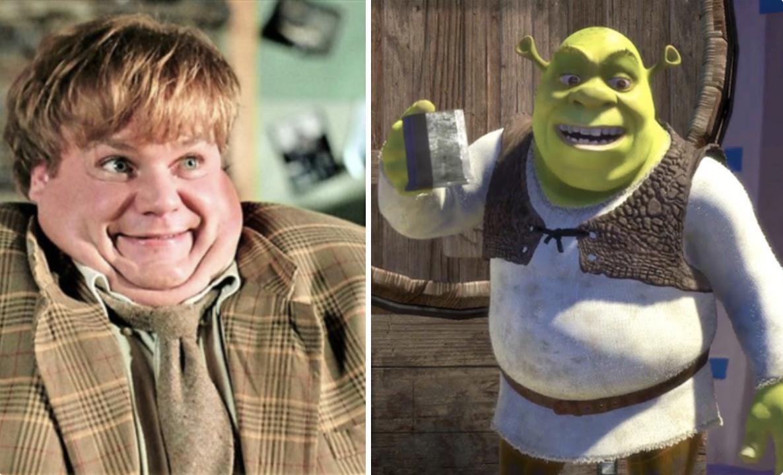 Chris Farley, the artist who dubbed Shrek's voice