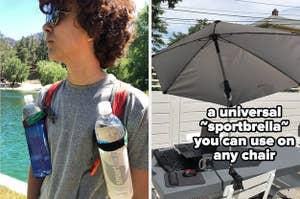 water bottle holder and sportbrella