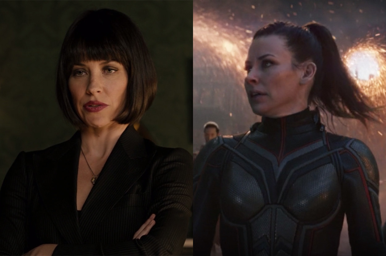 She had a short bob in her first movie and a long ponytail in the last