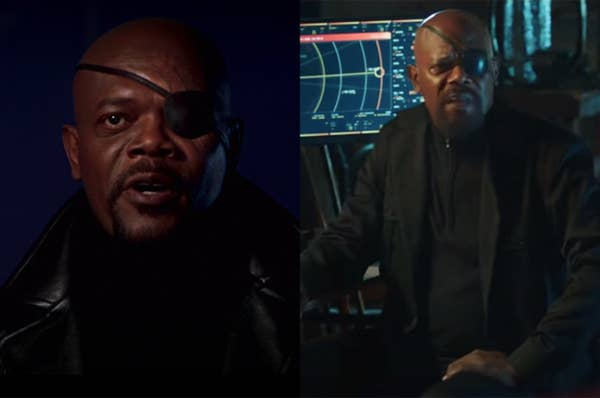Nick Fury has sported his iconic eye patch since his first appearance in the Iron Man post-credit scene