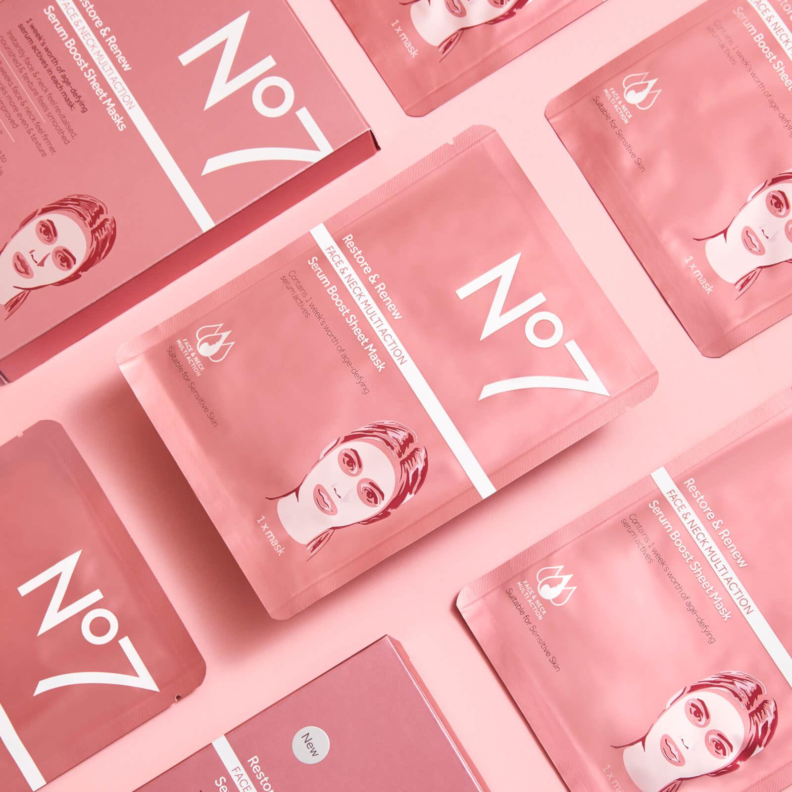 Sheet masks in their packaging