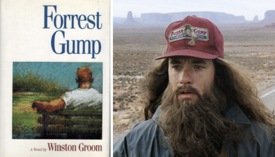 The cover of the forrest gump book
