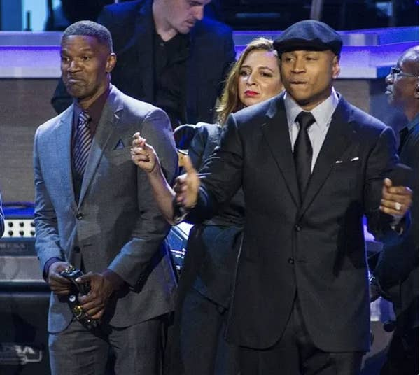 LL Cool J And Jamie Foxx Getting Along Together
