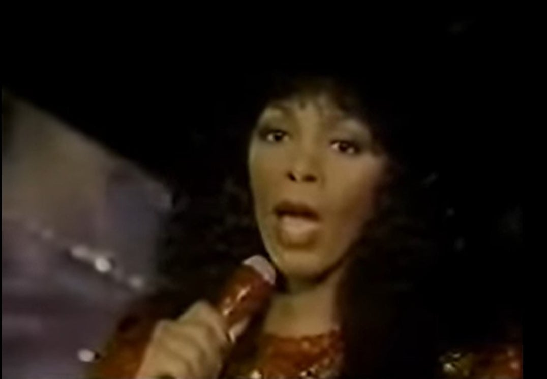 Donna Summer performing at the Oscars