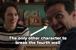 """The Hot Priest in Fleabag labeled """"The only other character to break the fourth wall"""""""