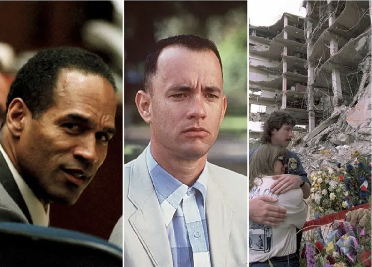 OJ, Forrest, and and image of the Oklahoma City bombing
