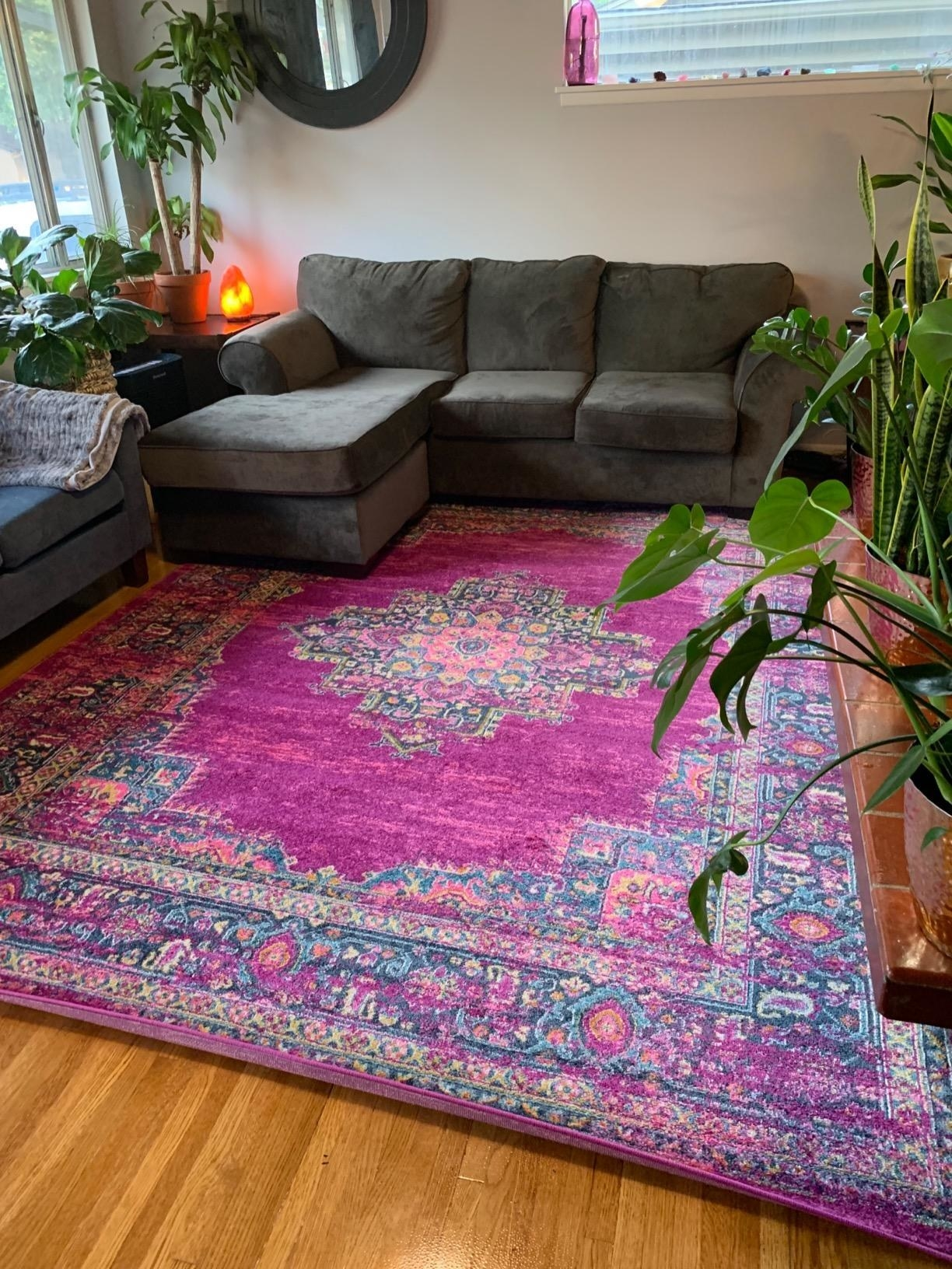a reviewer's rug in their living room