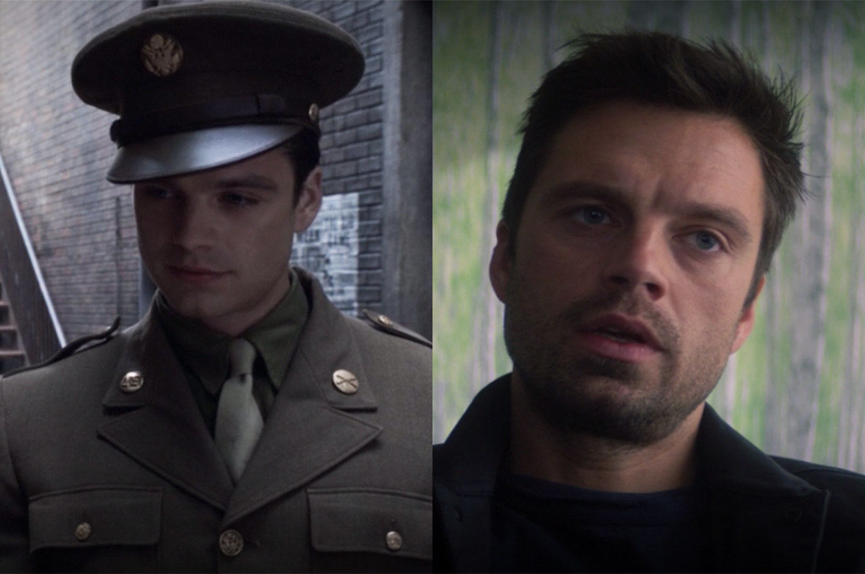 Bucky looks relatively young for someone who's over 100 years old