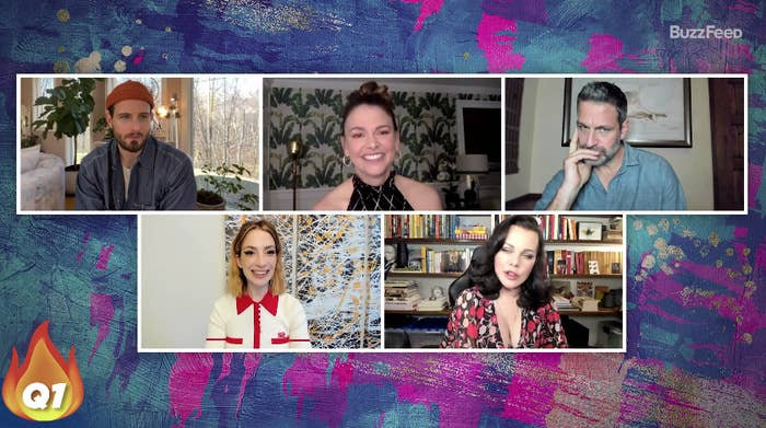 The cast of Younger answering burning questions