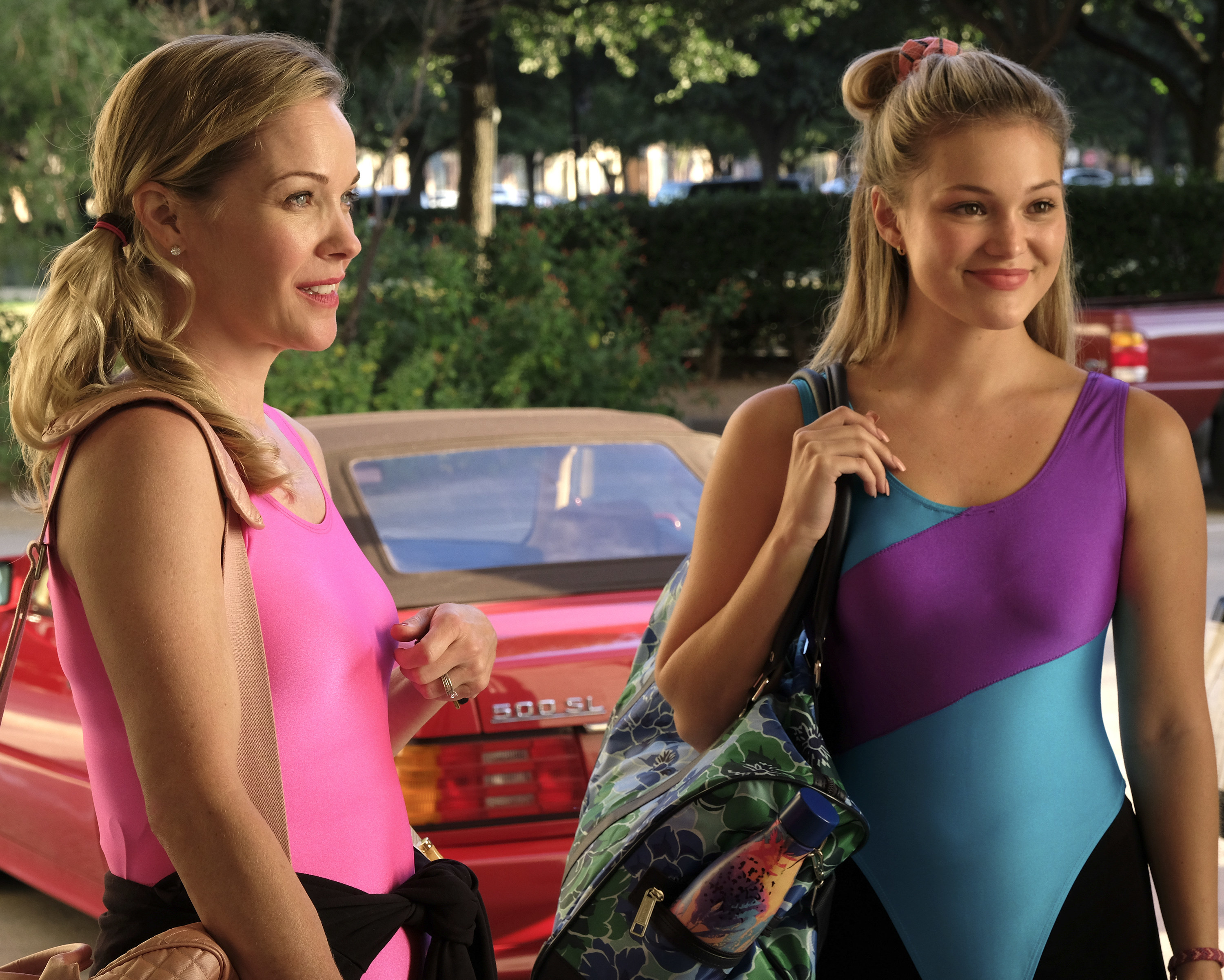 """""""Cruel Summer"""" character Kate and her mother seen wearing leotards"""