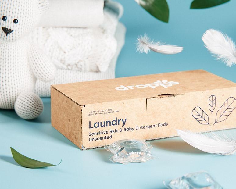a box of sensitive skin laundry detegernt pods