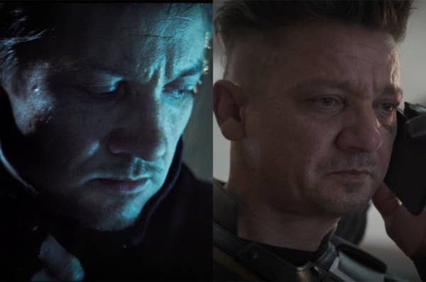Clint shaved the sides of his head before Endgame