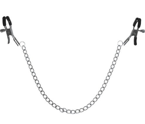 The clips connected with a 13-inch silver chain
