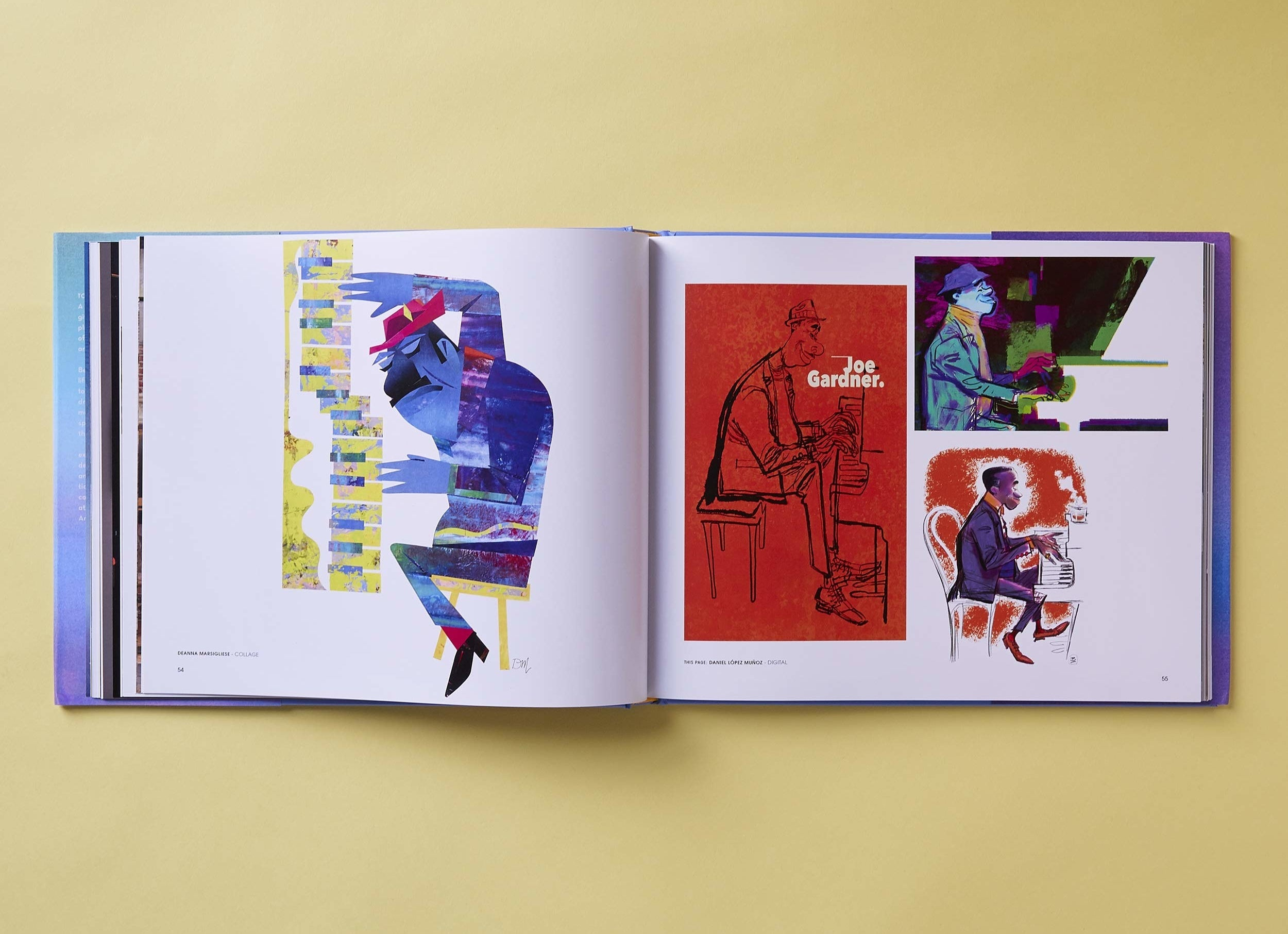 The Art Of Soul book opened to two illustrated pages