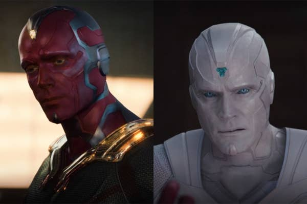 The true Vision did not look the same as the man Wanda fell in love with