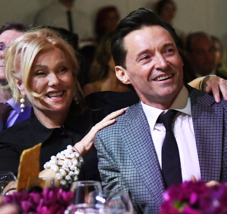 Deborra-lee Furness and Hugh Jackman attend God's Love We Deliver, Golden Heart Awards at Spring Studios on October 16, 2018 in New York City