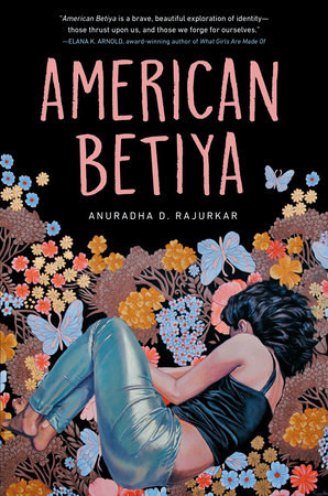 The book cover for American Betiya portrays a teenager lying in a field of flowers