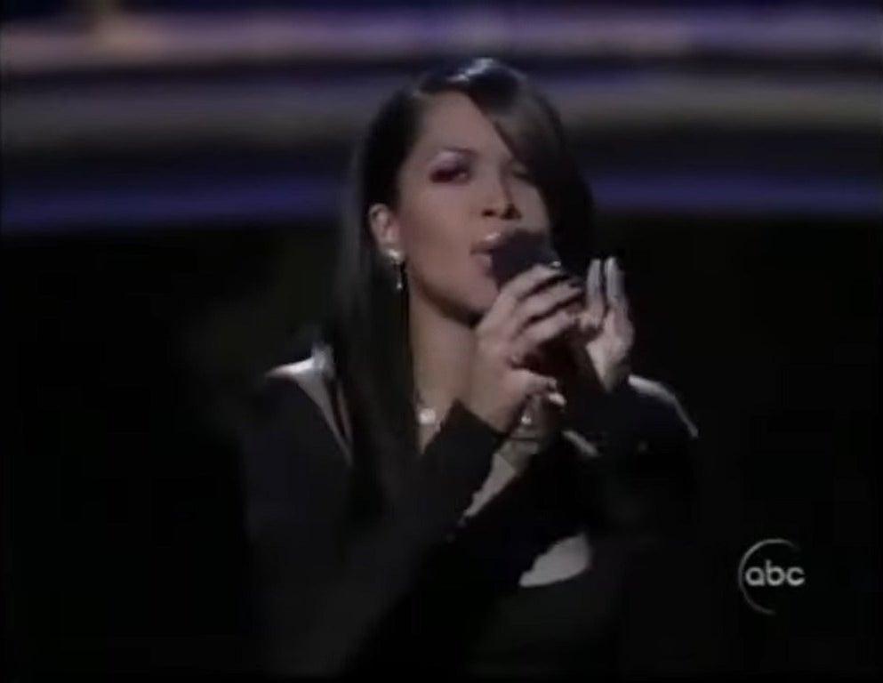 Aaliyah performing at the Oscars