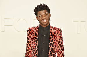 Lil Nas X at the Tom Ford Fashion Show in 2020