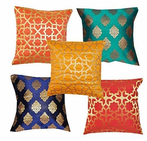 Dupion silk cushion covers in different colours