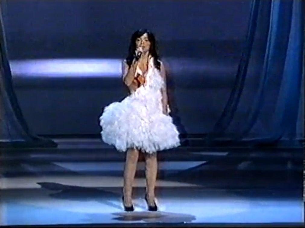 Bjork in the swan dress