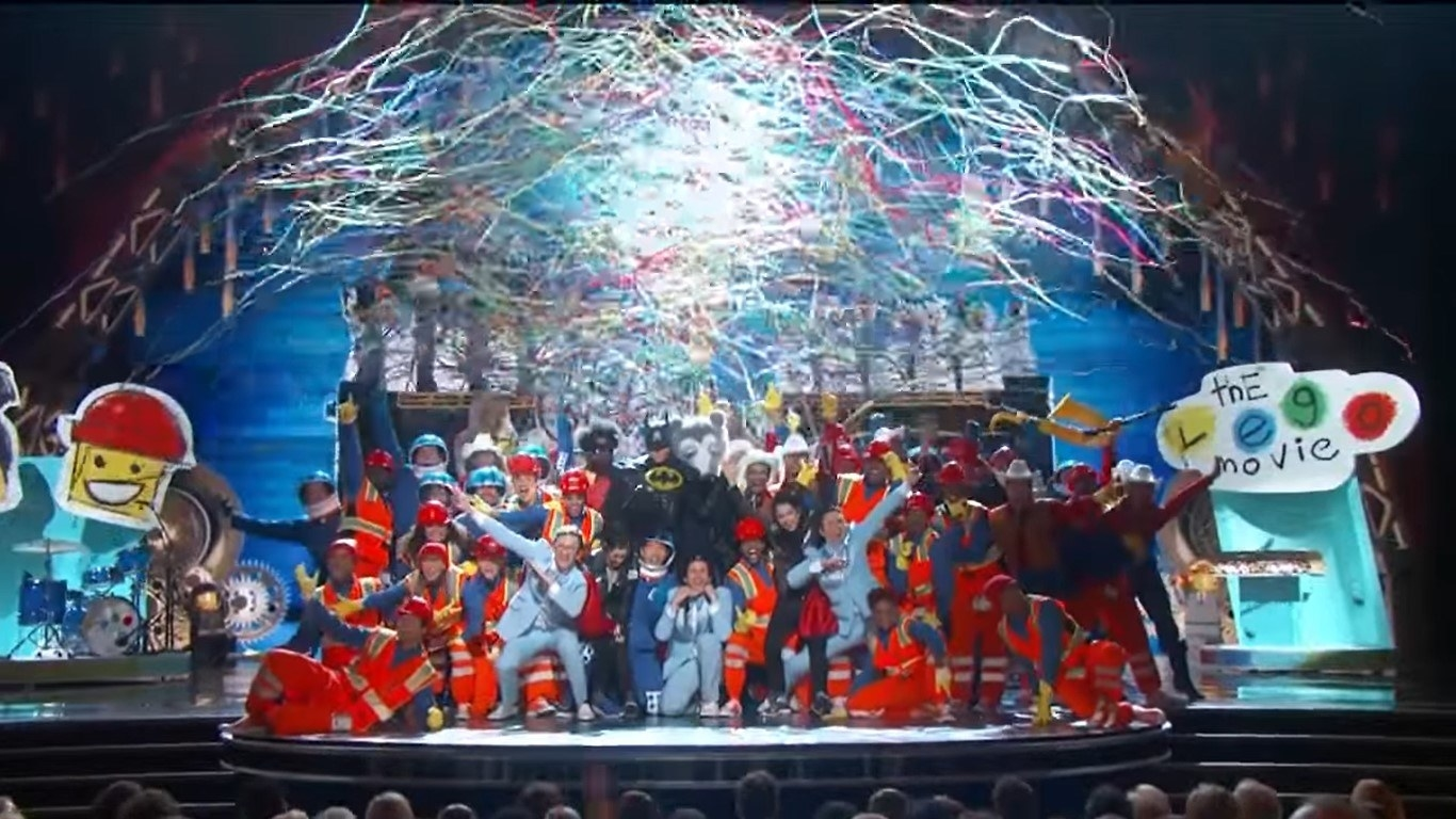 The grand finale of Everything Is Awesome with confetti