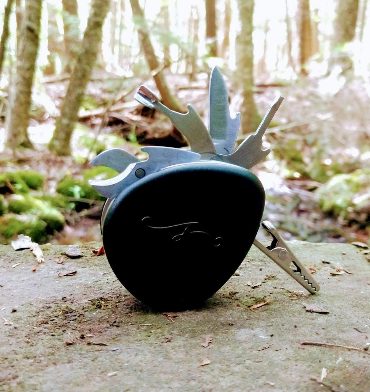 The multitool in a forest