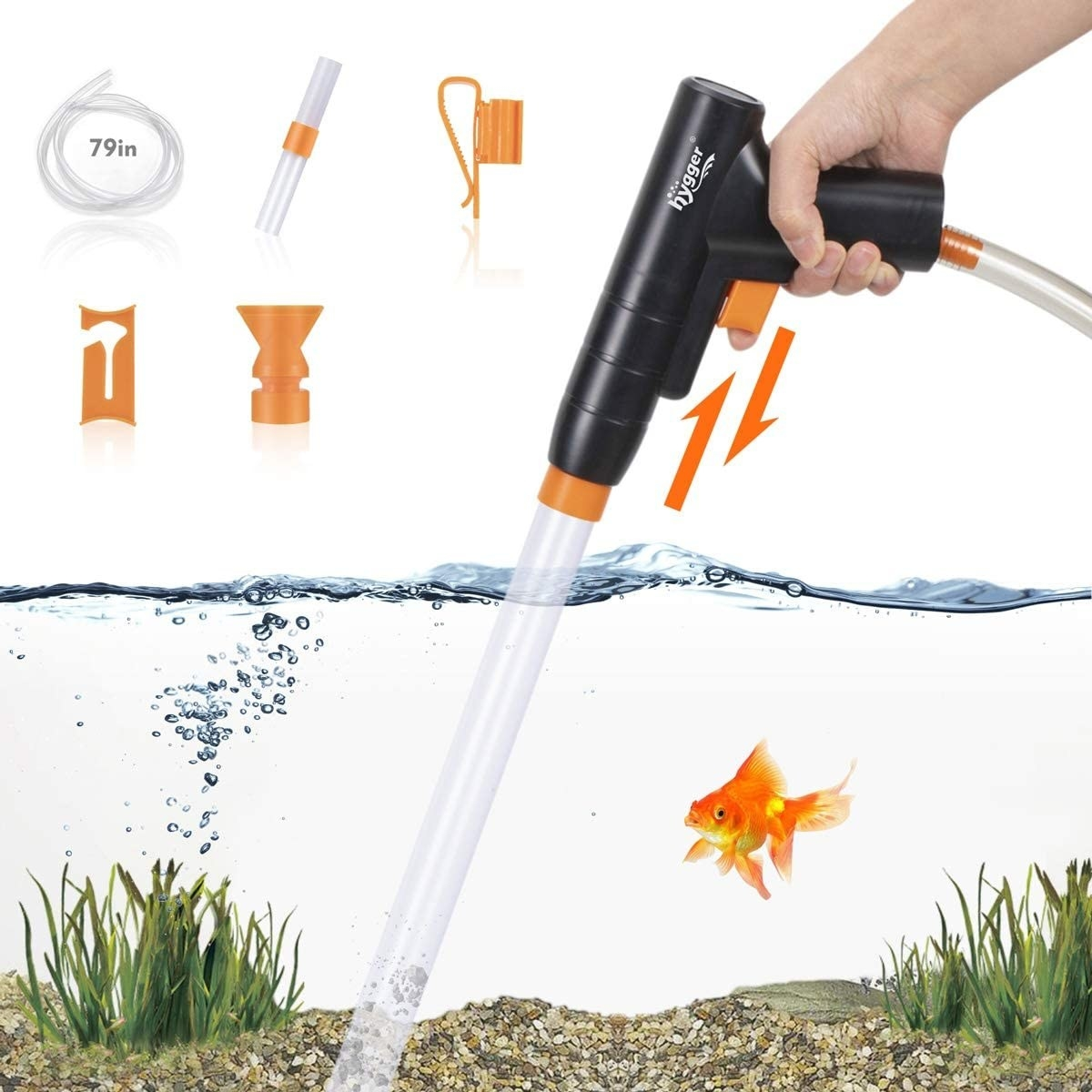 the siphon tool in an aquarium